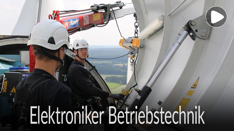 Link zum Video /  Ausbildung, Ausbildungsberuf, Lehre, Beruf Elektroniker für Betriebstechnik, Windenergie
