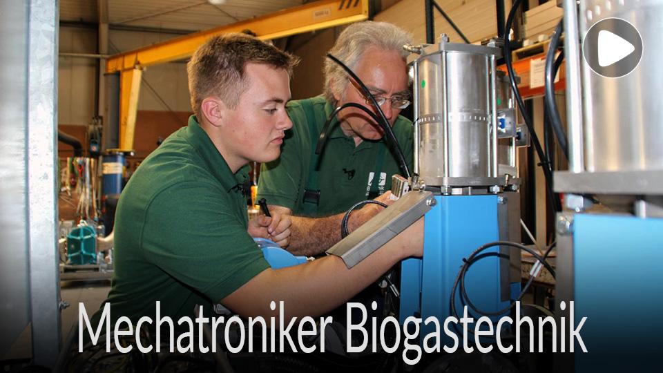 Link zum Video /  Ausbildung, Ausbildungsberuf, Lehre, Beruf Mechatroniker Biogas