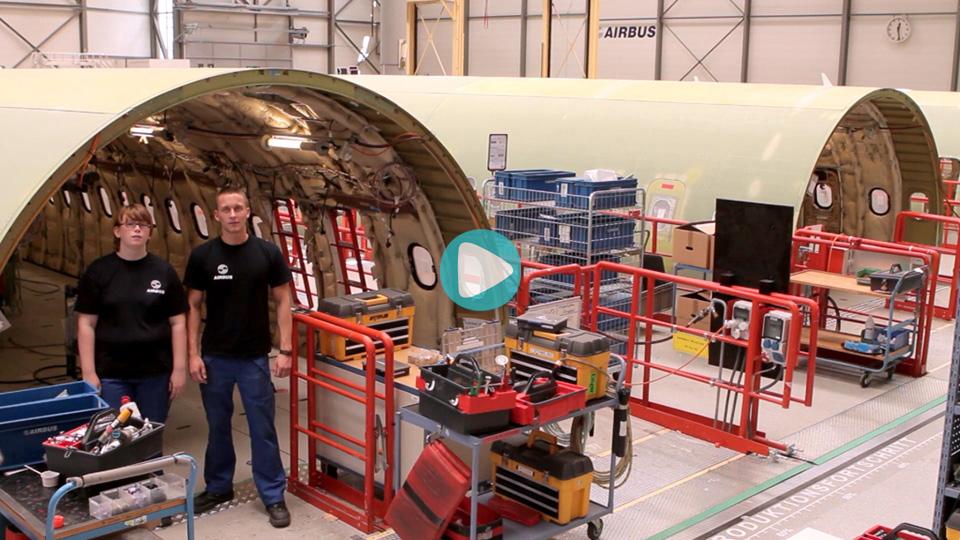 Video Ausbildung Fluggeraetelektroniker Airbus