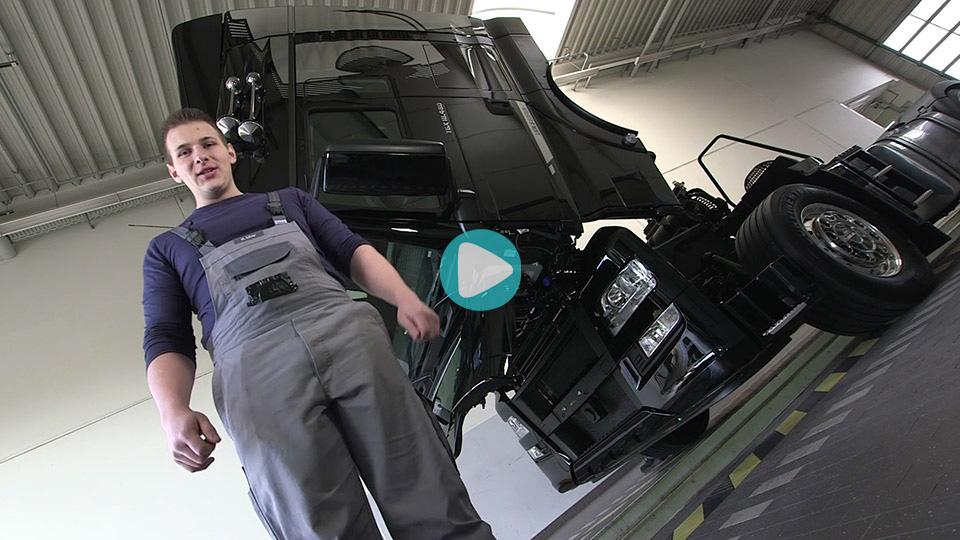 Video Ausbildung Kraftfahrzeugmechatroniker Nutzfahrzeuge