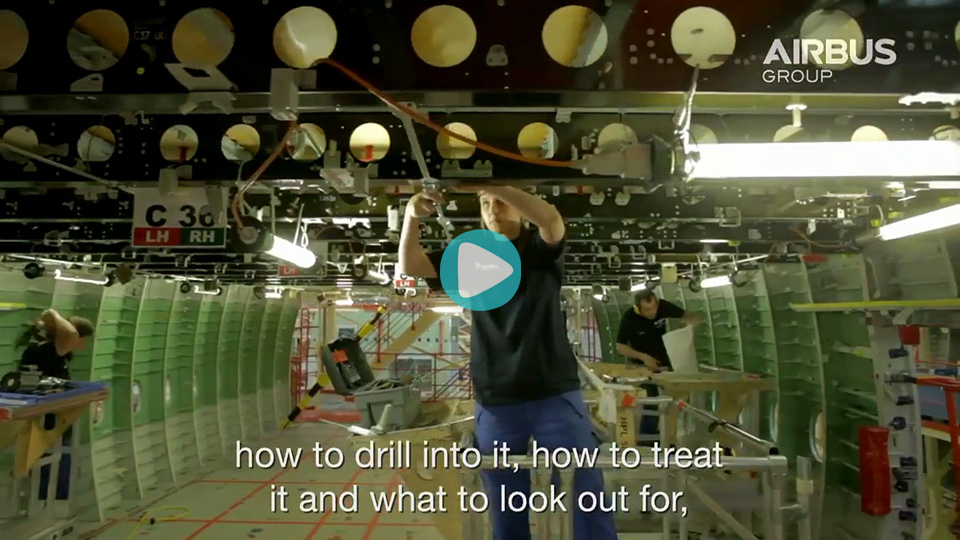 Video Ausbildung Verfahrensensmechaniker Kunststoff und Kautschuk Airbus