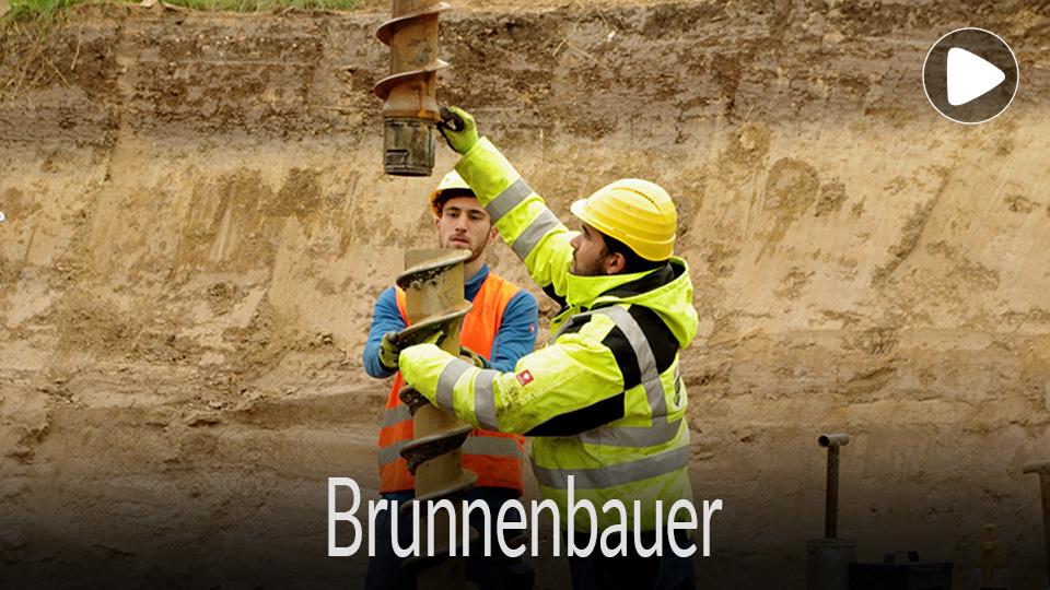 Link zum Video /  Ausbildung, Ausbildungsberuf, Lehre, Beruf Brunnenbauer, Handwerk